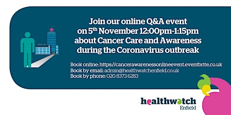 Join an online event about Cancer Awareness during the Coronavirus Outbreak tickets