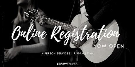 9:30am 1st November  Sunday Service tickets