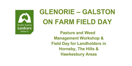 Glenorie - Galston On Farm Field Day tickets
