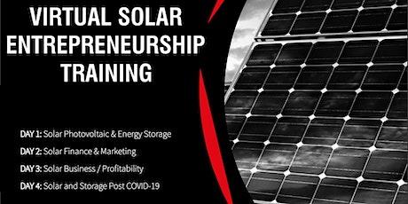Virtual  Solar Entrepreneurship Training: January 2021 tickets
