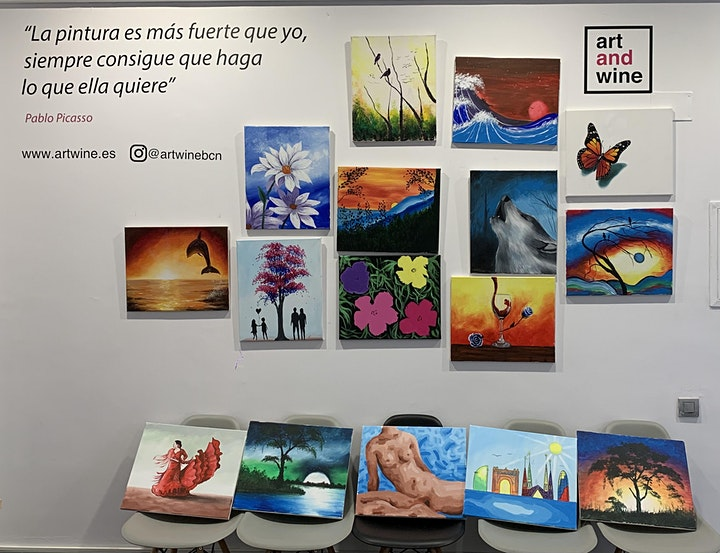 Imagen de Art&Wine I Paint And Sip With Me in Barcelona
