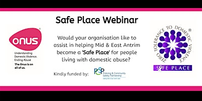 Onus Safe Place Webinar – Mid & East Antrim Borough Council