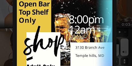 Open bar pop up shop tickets