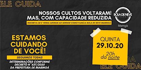 CULTO QUINTA (29/10) 20h00 ingressos