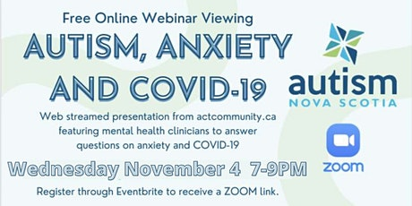 Autism, Anxiety and COVID-19 tickets