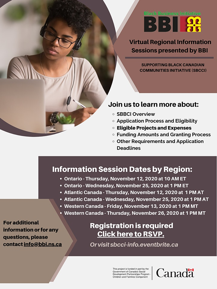 Supporting Black Canadian Communities Initiative Information Sessions image