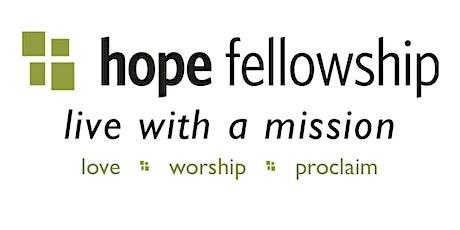Hope Fellowship Worship Service 11/1 tickets