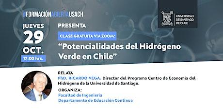 Potencialidades del Hidrógeno Verde en Chile boletos
