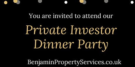 Private Real Estate Investor Dinner Party (London & Virtually) tickets