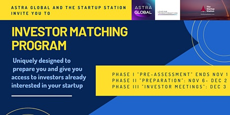 Investor Matching Program - Connecting with Investors Interested in You tickets