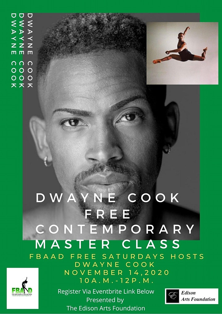 FBAAD FREE SATURDAYS Hosts  Dwayne Cook Contemporary Master Class! image