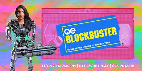 QE Trivia 033: Blockbuster Movie Night (Virtual Pub Quiz) tickets