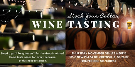 Wine Tasting: Stock Your Cellar tickets