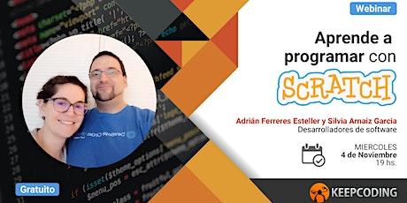 Webinar: Aprende a programar con Scratch entradas