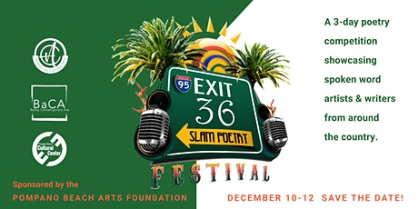 3rd Annual Exit 36 Slam Poetry Festival - Day Two - Virtual Artist Talk tickets