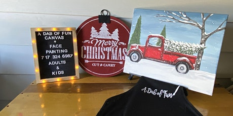 Paint vintage red truck & trees + 1 drink ticket tickets