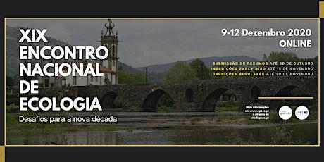 XIX Encontro Nacional de Ecologia bilhetes