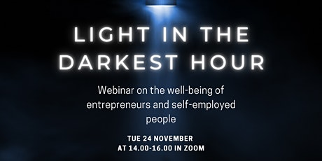 Light in the Darkest Hour – Webinar on the well-being of entrepreneurs and tickets
