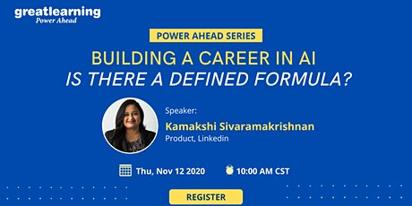 [FREE Webinar] Building a Career in AI - Is there a defined formula? tickets