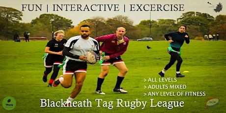 Saturdays NCR Blackheath Tag Rugby Mixed League SE London Winter 20/21 tickets