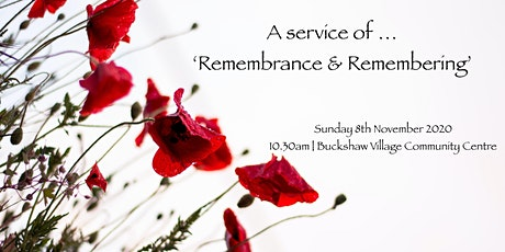 10.30am Service of 'Remembrance & Remembering' (08.11.20) tickets