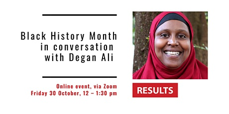 RUK Black History Month event with Degan Ali tickets