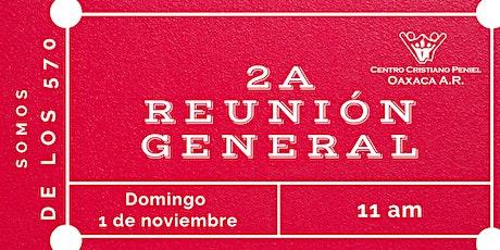 2a Reunion General | Domingo 1 de noviembre de 2020 boletos