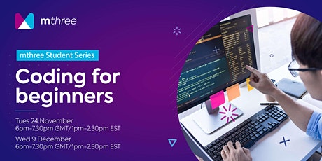 mthree Student Series - Coding for beginners tickets
