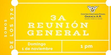 3a Reunion General | Domingo 1 de noviembre de 2020 boletos