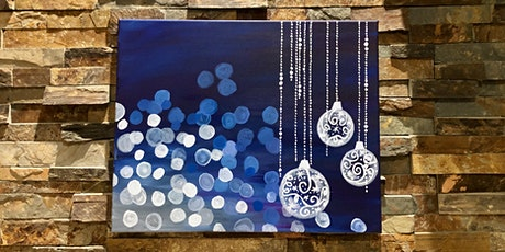 Hanging Ornaments Canvas Painting Party tickets