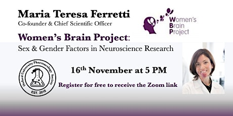 Women's Brain Project: ​ ​ Sex & Gender Factors in Neuroscience Research ​ tickets