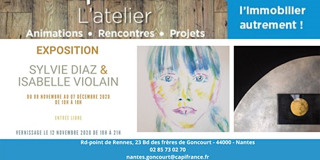 Vernissage Sylvie Diaz & Isabelle Violain billets