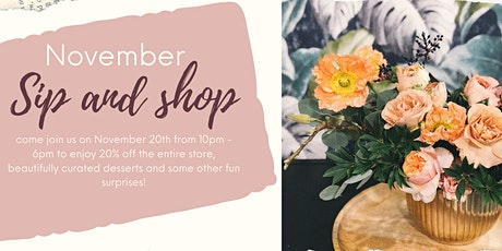 November Sip and Shop tickets