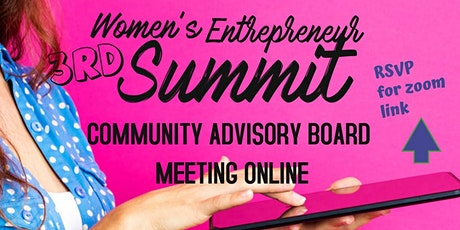 #WESummit2020  Entrepreneur VIRTUAL Community Board Zoom Meeting tickets