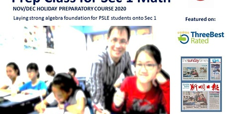 Sec 1 Math Holiday Preparatory Class (Nov/Dec 2020 Monday - Hougang)