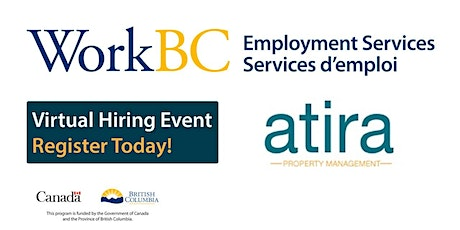 Atira -  WorkBC Social and Community Virtual Hiring Fair  (VNE) tickets