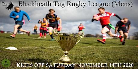 Saturdays NCR Blackheath Tag Rugby Men's League SE London Winter 20/21 tickets
