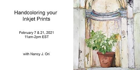 Handcoloring your Inkjet Prints tickets
