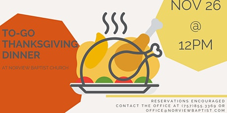 To-Go Thanksgiving Dinner (FREE) tickets