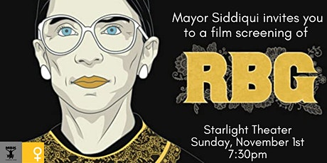 """RBG"" Film Screening presented by Cambridge Mayor Sumbul Siddiqui tickets"