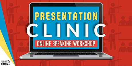 Presentation Clinic - Virtual Speaking Session tickets