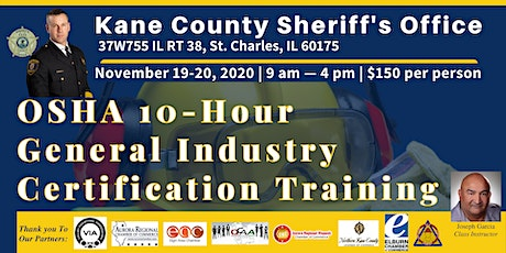 OSHA 10-Hour General Industry Certification Training tickets