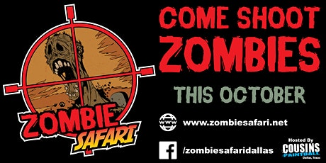 Zombie Safari Dallas - The Zombie Hunt- Nov. 1st  2020 tickets