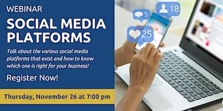 Social Media – Platforms tickets