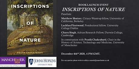 Inscriptions of Nature: Book Launch Part I tickets