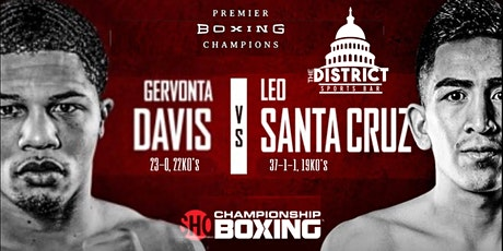 SHOWTIME|PPV: GERVONTA DAVIS VS LEO SANTA CRUZ tickets