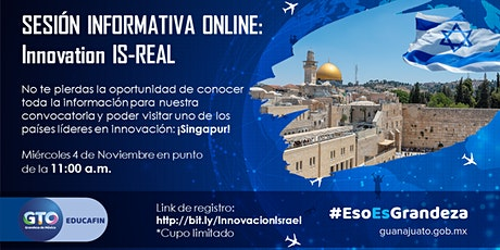 Sesión informativa online - Innovation IS-REAL boletos