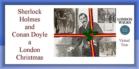 Sherlock Holmes and Conan Doyle at Christmas tickets