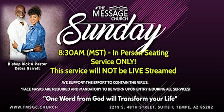 The Message Church 8:30AM (MST) Service tickets