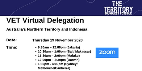 VET Virtual Delegation : Australia's Northern Territory and Indonesia tickets